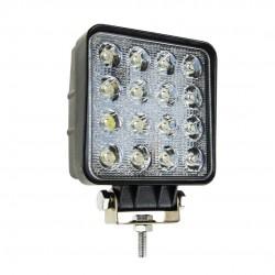 ΠΡΟΒΟΛΕΑΣ ΕΡΓΑΣΙΑΣ ΤΕΤΡΑΓΩΝΟΣ AWL05 FLAT 4000lm 9/60V - 48W -16 LED -108X108X57mm AMiO - 1 ΤΕΜ.