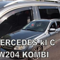 MERCEDES C-KLAS W204 5D S/W 03/2007-2014 ΤΑΞΙ / COMBI ΣΕΤ ΑΝΕΜΟΘΡΑΥΣΤΕΣ ΑΥΤΟΚΙΝΗΤΟΥ ΑΠΟ ΕΥΚΑΜΠΤΟ ΦΙΜΕ ΠΛΑΣΤΙΚΟ HEKO - 4 ΤΕΜ.