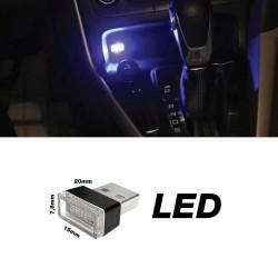 ΠΛΑΦΟΝΙΕΡΑ ΣΕ USB ΜΠΛΕ ΦΩΣ ATHMOSPHERE LED ΓΙΑ ΘΥΡΑ USB 12V 20x15x7,8mm 1ΤΕΜ.