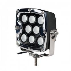 ΠΡΟΒΟΛΕΑΣ LED DRIVING LIGHTS  ΜΑΥΡΟΣ/ΧΡΩΜΙΟ 10-32V 80W 5600lm CREE LED ΤΕΤΡΑΓΩΝΟΣ (130 x 130 x 86 mm) M-TECH