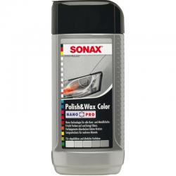 Sonax Γυαλιστικό & Κερί με χρώμα ασημί/γκρι NanoPro 250ml